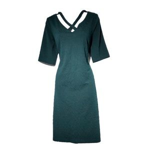 Connected Apparel Dress Green Size 12